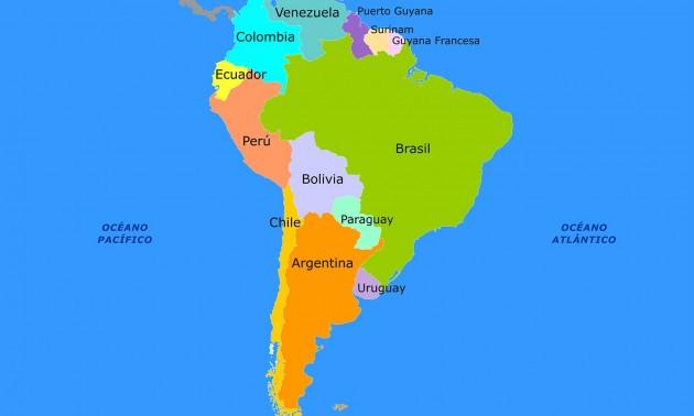 Cules son los nombres oficiales de los pases de Amrica del Sur