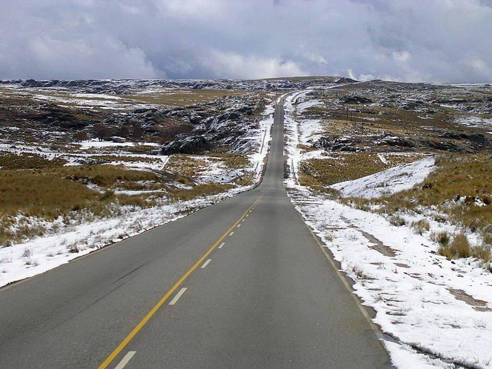 Camino Altas Cumbres Córdoba nieve