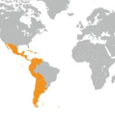 Mapa de Hispanoamérica.