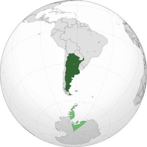 Dónde está Argentina Mapa