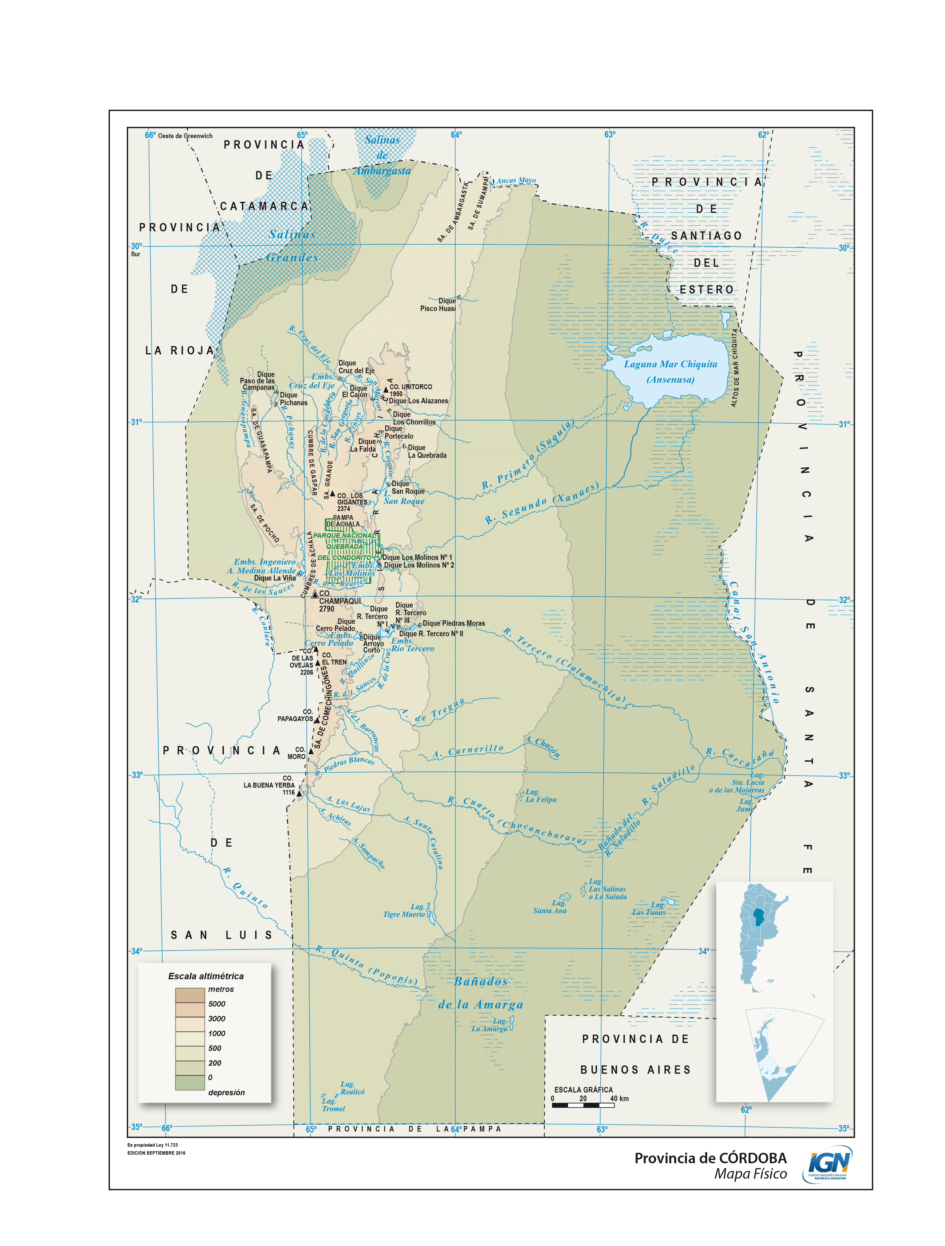 Mapa Provincia De Cordoba Politico.Mapa Fisico Provincia De Cordoba Epicentro Geografico