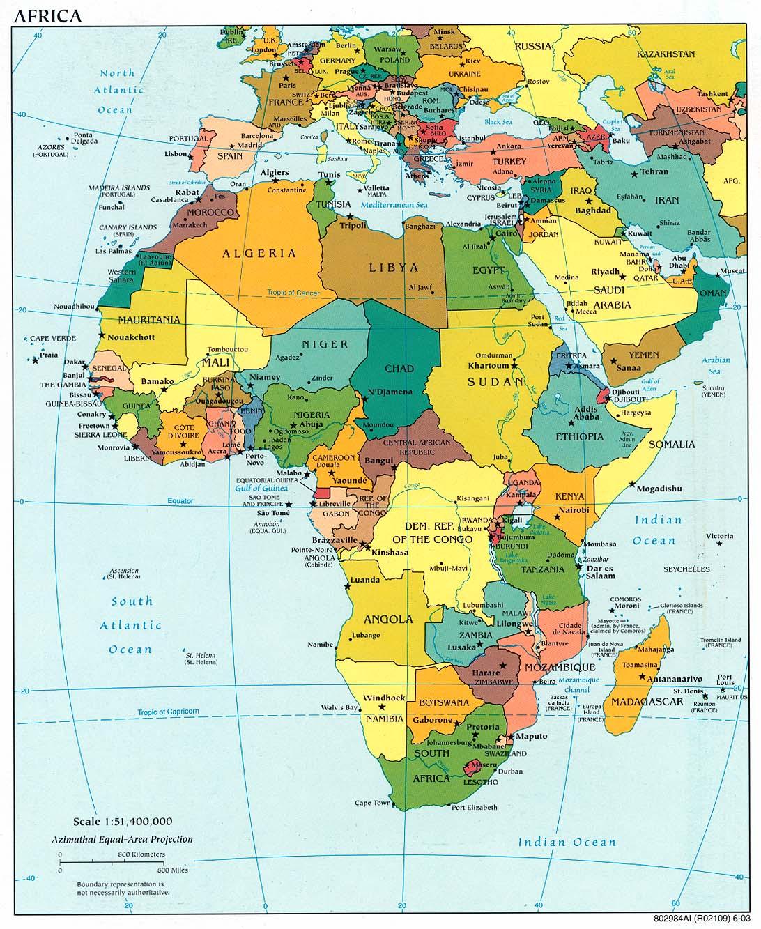 Mapa Politico De Africa En Español.Mapa Politico Africa Epicentro Geografico