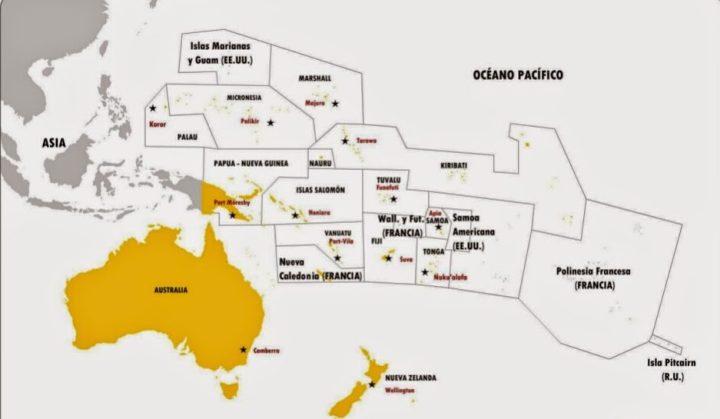 Oceanía: cada uno de los países que integran el continente y sus ...