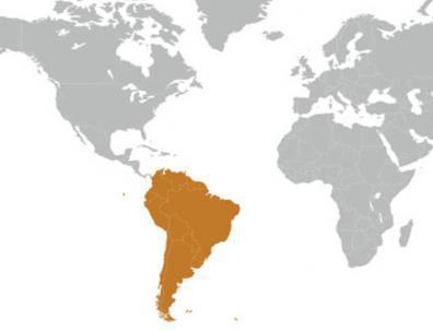 Mapa de Sudamérica.