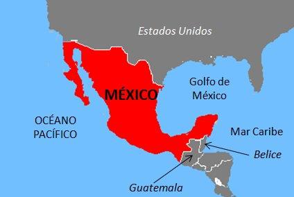 Limites de México.