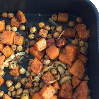 oven roasted butternut & chickpea