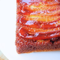 Upside Down Banana Cake