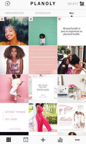 Instagram Content Planning - Planoly