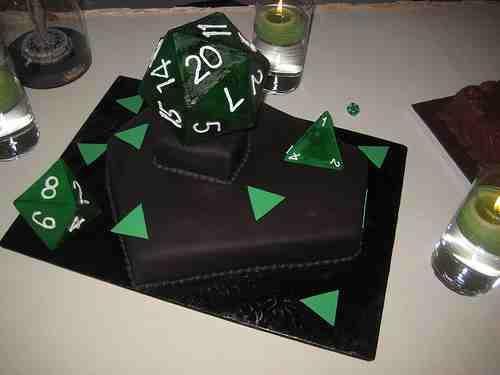 Edible D20 wedding Cake