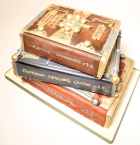 D&D books wedding cake