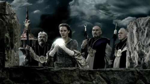 Mages casting spells