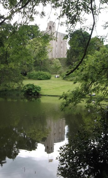 Hedingham Castle reflection