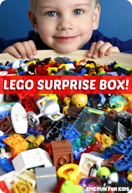 LEGO Suprise Box -- a fun way to inspire your child's creativity with Lego building!