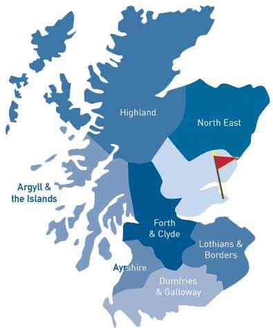Map Of St Andrews Scotland : andrews, scotland, Scotland, Travel