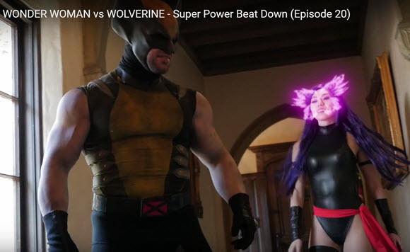 WONDER WOMAN vs WOLVERINE Bat in the Sun
