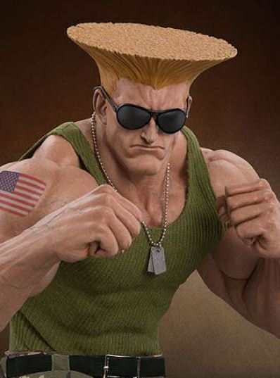 Street Fighter Guile Statue