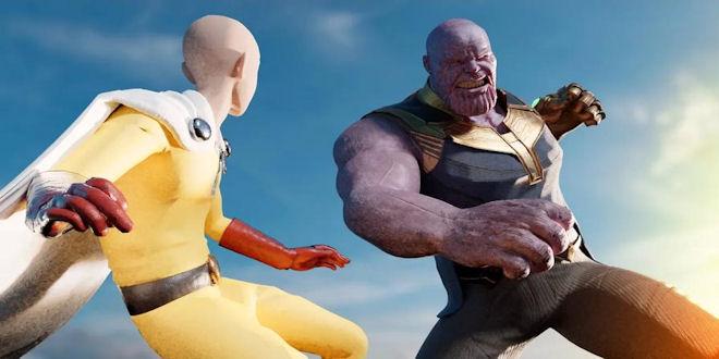 Marvel Thanos vs Saitama