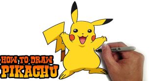 Pokemon Pikachu in Colour - Easy Video Tutorial 7 min.