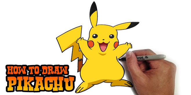Pokemon Pikachu in Colour - Easy Video Tutorial 7 min.