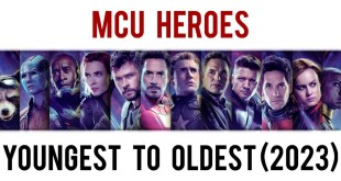 Marvel Cinematic Universe Heroes From Youngest to Oldest (Age Comparison As of 2023)