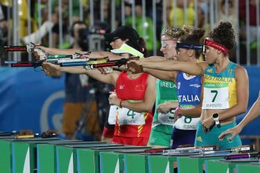 Esposito em sétimo na primeira volta, sem saber que tiraria 45s de desvantagem e seria ouro olímpico! (foto do site oficial)