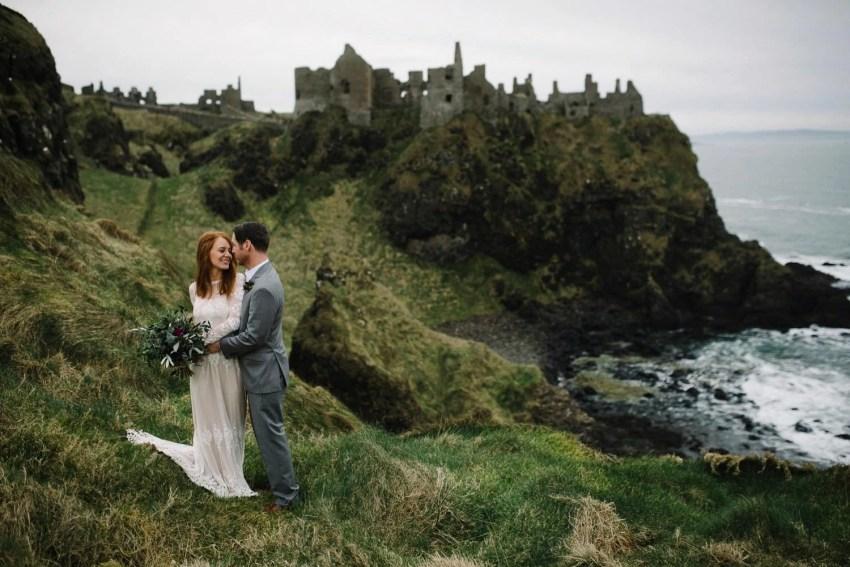 Northern Ireland Adventure elopements Dunluce castle-100001