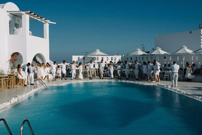Rocabella Hotel Santorini wedding party