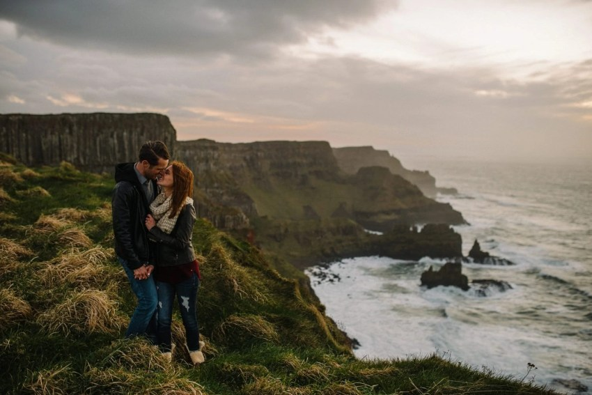 Dunluce Castle Engagement Photographer