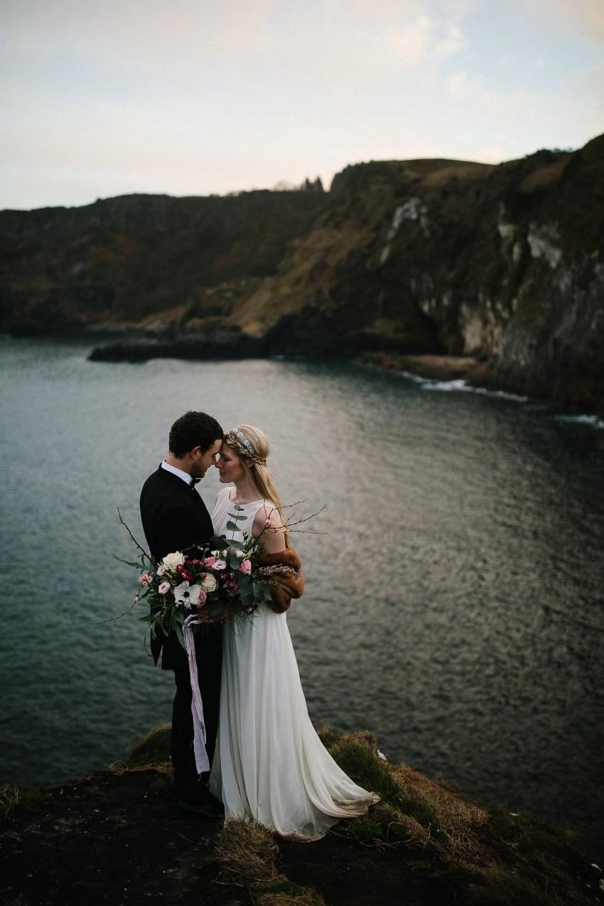 Northern Ireland Adventure elopement kinbane castle