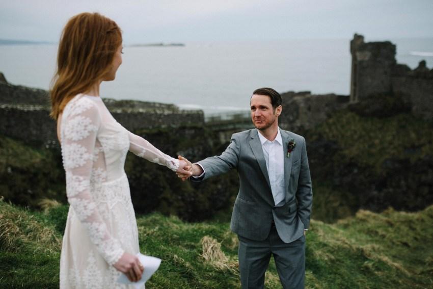 Dunluce Castle Elopement Northern Ireland Irish elopement_0023.jpg