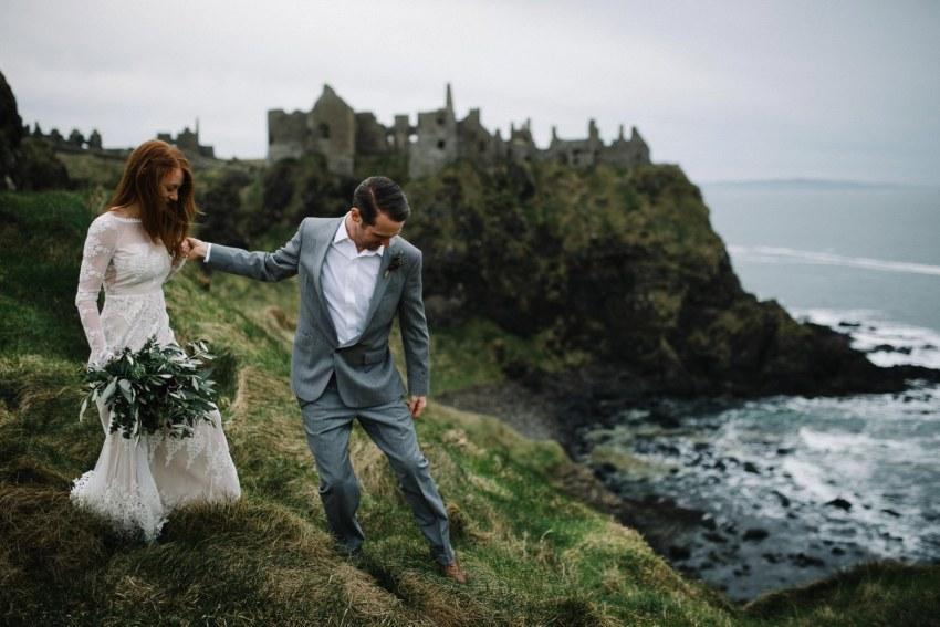 Dunluce Castle Elopement Northern Ireland Irish elopement_0059.jpg