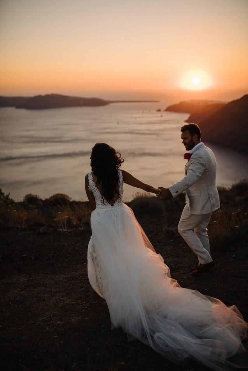 Intimate Santorini Destination Wedding