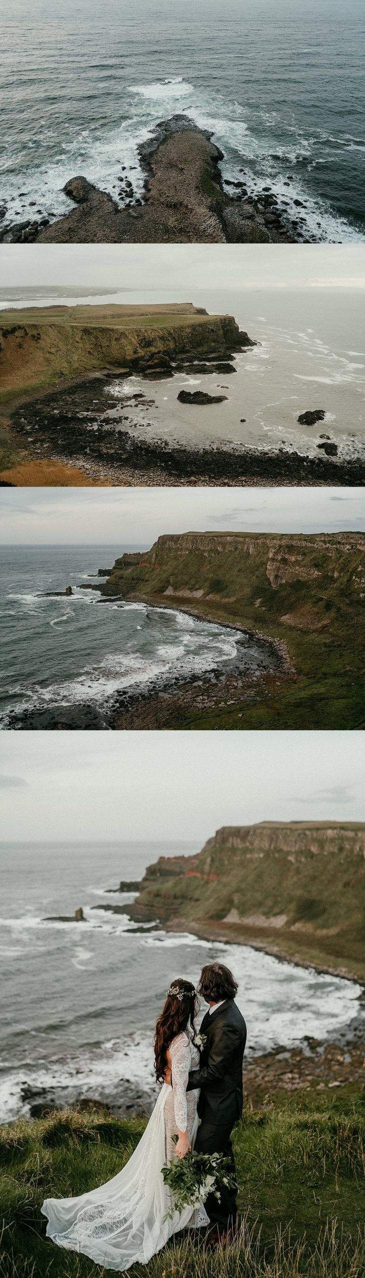 The Giants Causeway is a great place to elope in Ireland. The Best places to elope in Northern ireland. Irish elopements in the Mourne Mountains.
