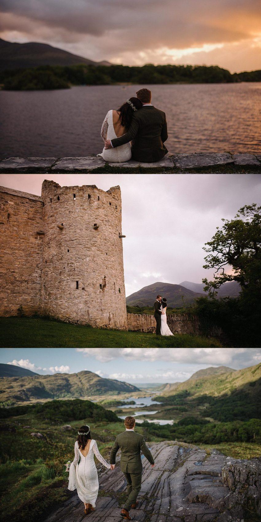 Northern Ireland elopements. Elope in Ireland. Killarney National Park elopement. Dunseverick Castle.