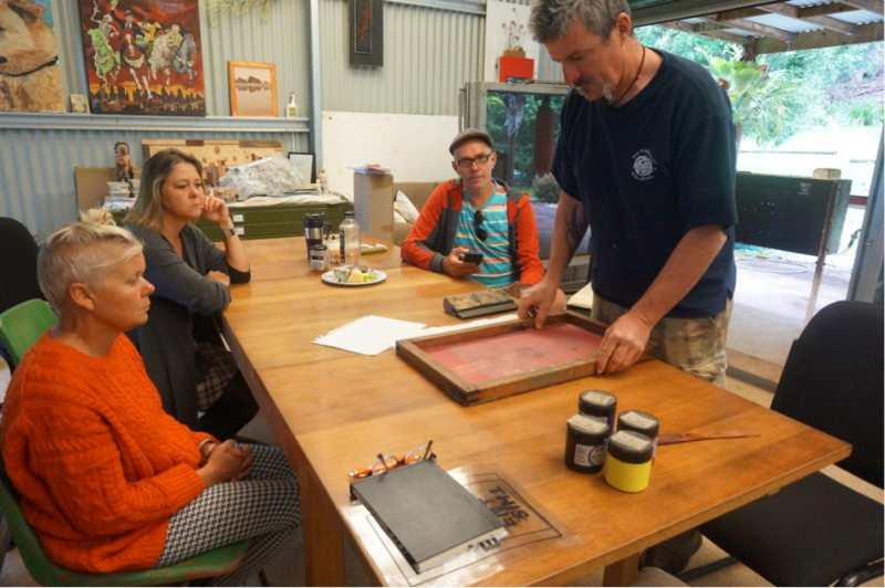 The Epicormia Collective - Artist Collaborations at Willowbank Studio – Screen printing intensive – May, June and August 2015