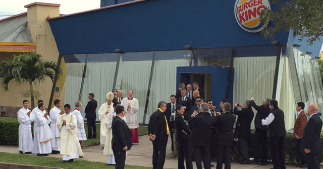 Pope Changes in a Burger King
