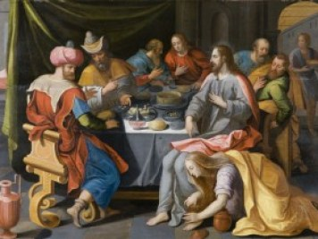 st. mary magdalene washes the feet of jesus