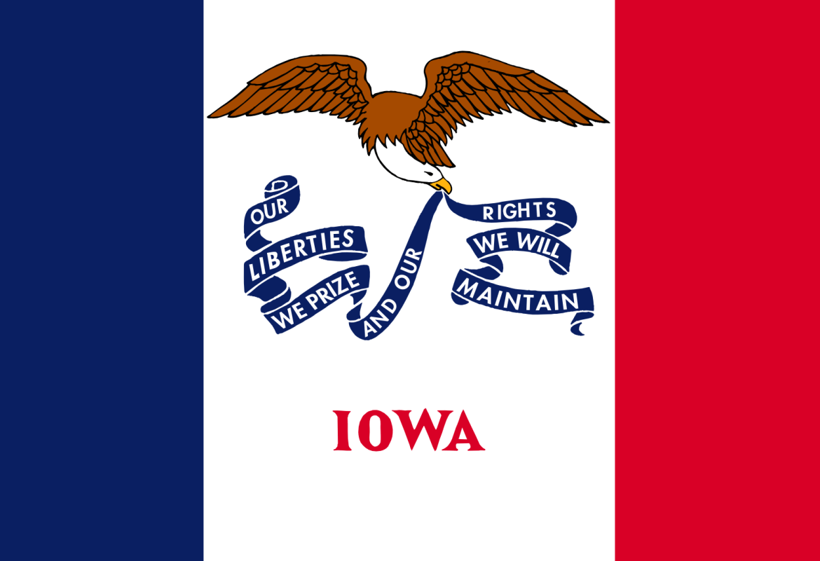 Who is the patron saint of Iowa?