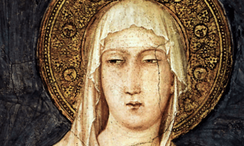 Saint Claire of Assisi was a good friend of Saint Francis. Send a prayer her way the next time you're frustrated by...