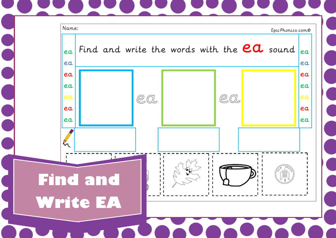 Ea Phonics Worksheet