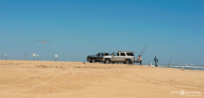 Cape Point, April 18, 2016, Park Service roping off beach access at Cape Point, Fisherman, Fishing Hatteras Island, The Point, Epic Shutter Photography, Fishing, OBX, North Carolina, Hatteras Island Photographers, Cape Hatteras National Seashore, National Park week