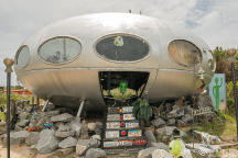 Frisco UFO, 1968 Futuro House, Save the Frisco UFO, Spaceship, James Bagwell Property Owner, LeRoy Reynolds Owner,Cape Hatteras National Seashore, Frisco, Hatteras Island, North Carolina, Epic Art Museum, Local Artist, Epic Shutter Photography, Alien, Martian, Flying Saucer, Engineering Marvel,Outer Banks Photographers, Historical Landmark, Hatteras Village, Out of This World Hotdogs, Dr Lee Russo,