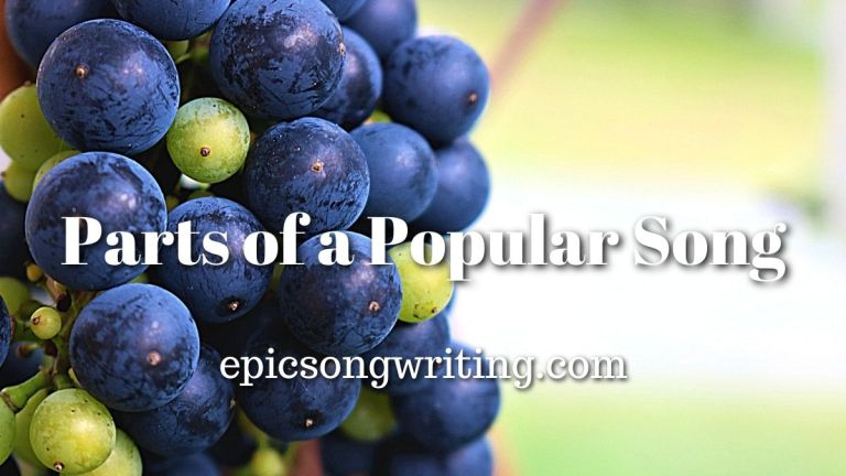 Song Sections, Parts of a Song, Parts of a Popular Song
