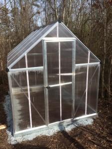 Palram Mythos Greenhouse Finished Exterior