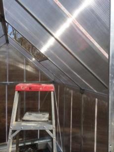 Palram Mythos Greenhouse Interior pre-window Stage