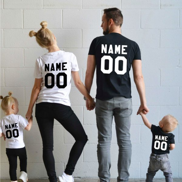 CUSTOM Name Amp Number Matching Family Shirts Awesome