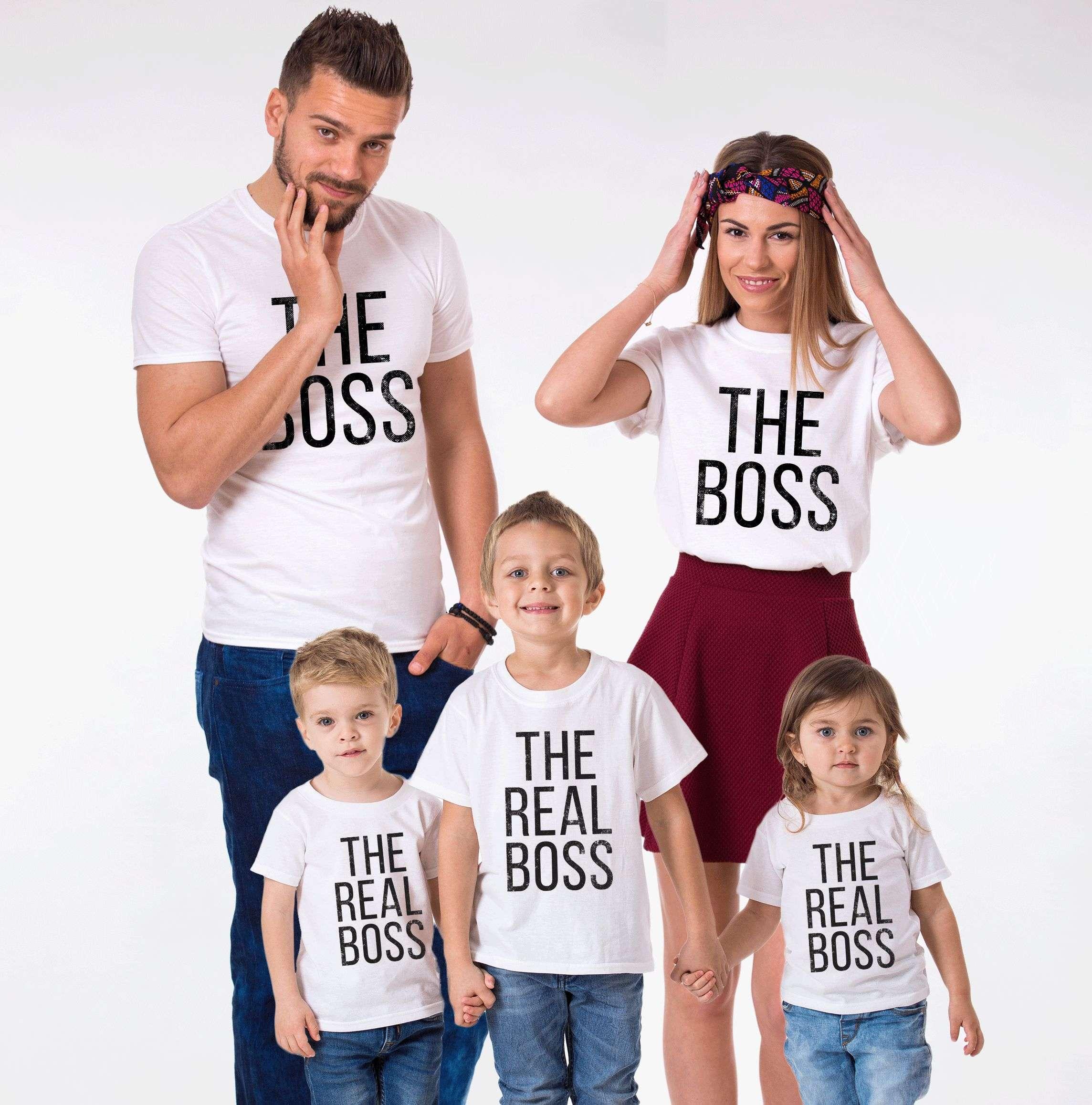 The Boss The Real Boss Shirts Matching Family Shirts