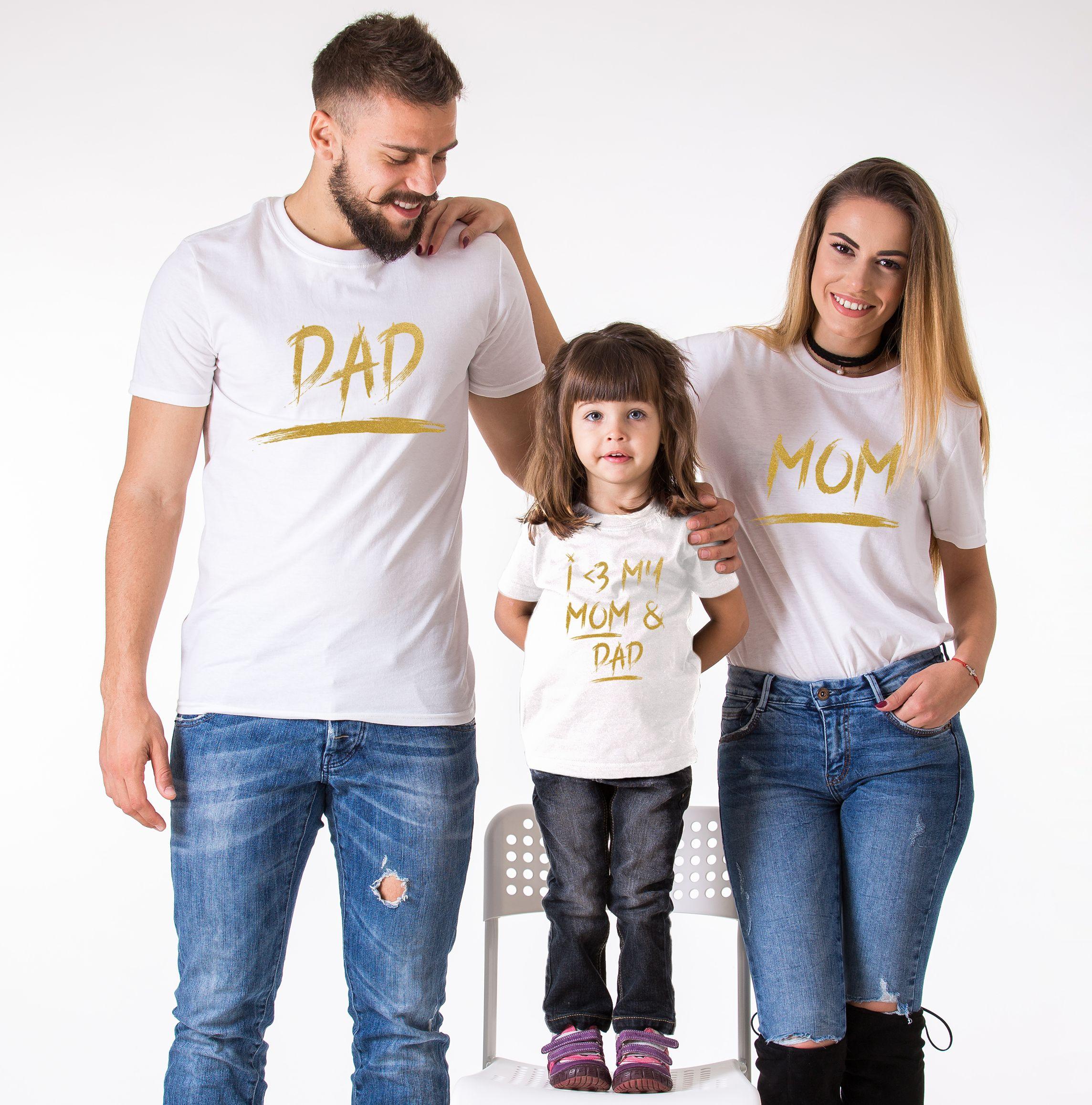 Matching Mom Dad Kid Shirts Mom Dad I