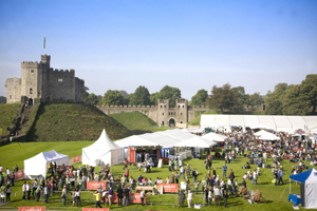 Great British Cheese Festival on the grounds of the Cardiff Castle