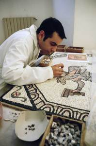 Mosaic restoration at the Vatican